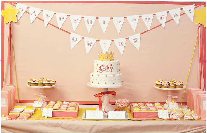 I Love The Small Beautiful Details Color Themes Desserts Happy Birthday Flag Vibrant Assortment Of Candy And Cute