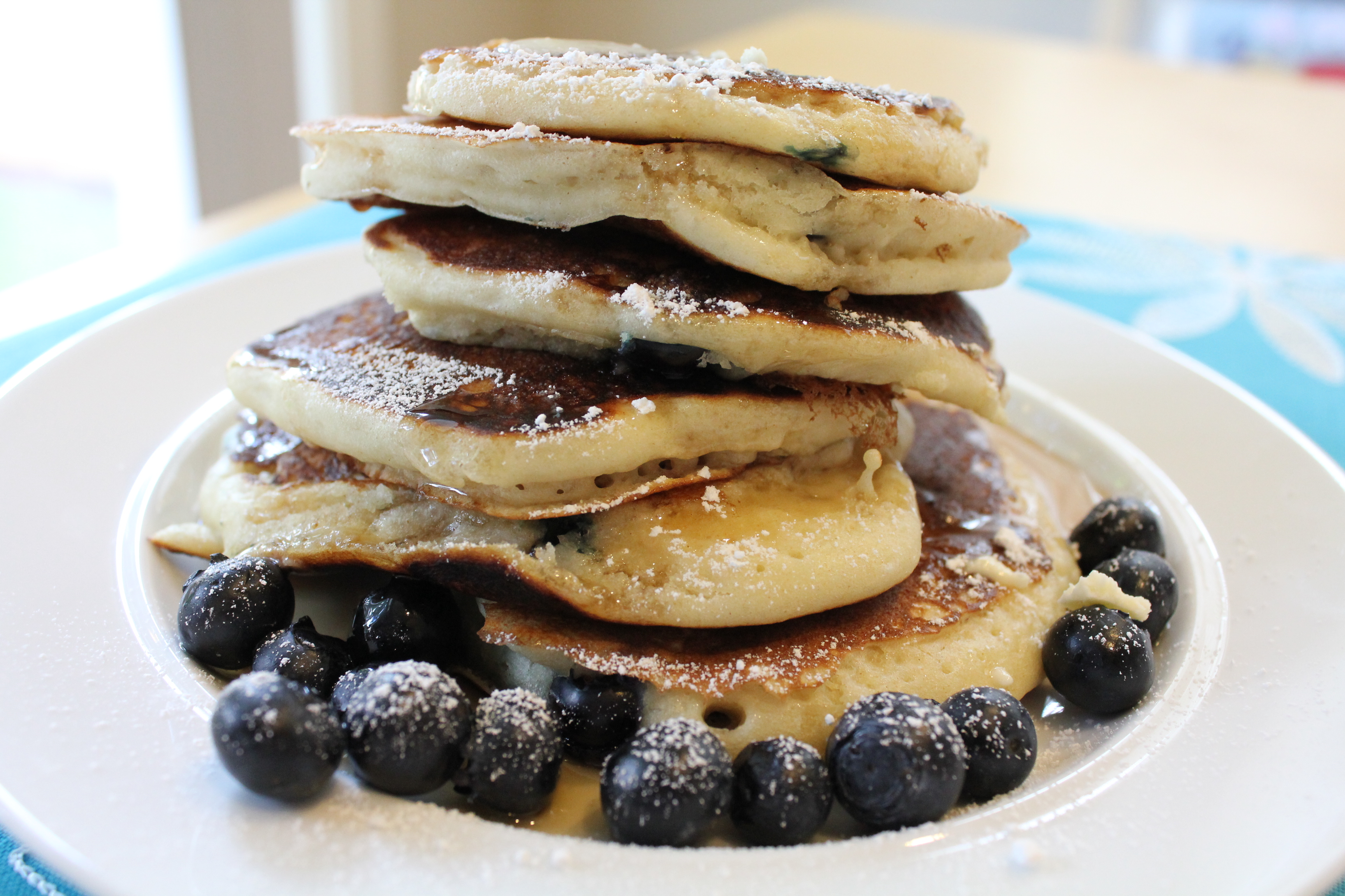 Blueberry- Buttermilk Pancakes - Hip Foodie Mom