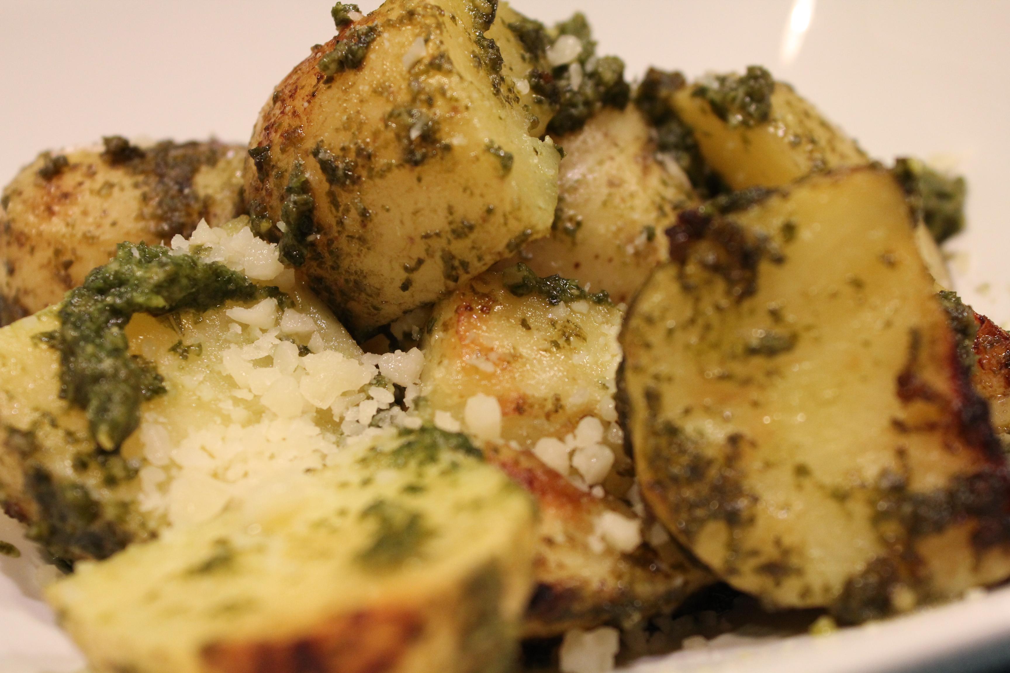 Grilled Pesto Potatoes • Hip Foodie Mom