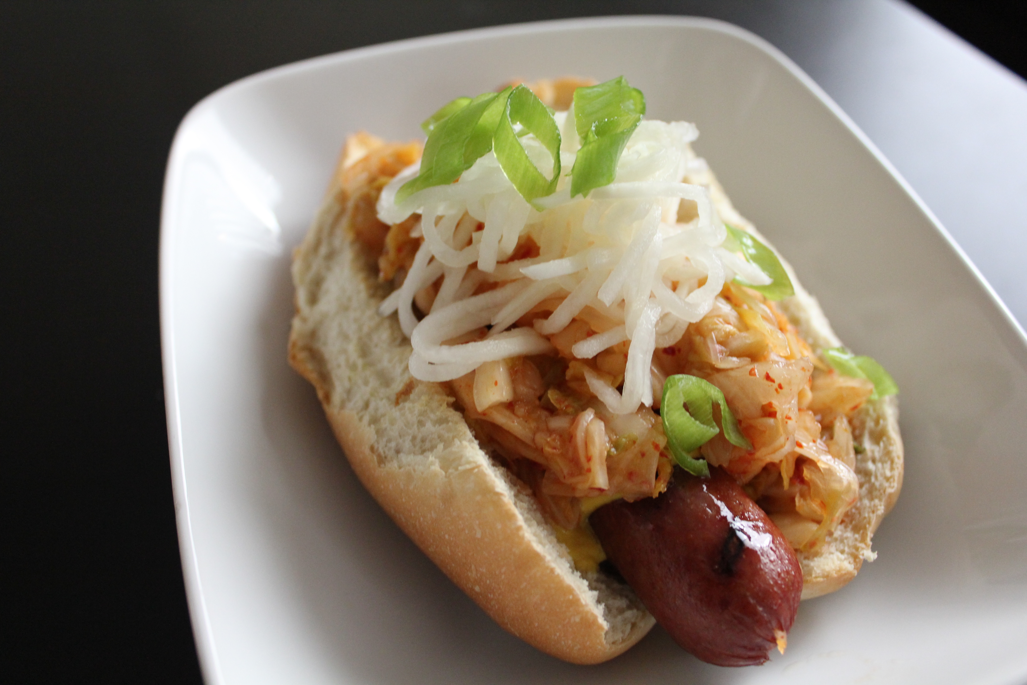 Hot Dogs with Kimchi Relish • Hip Foodie Mom